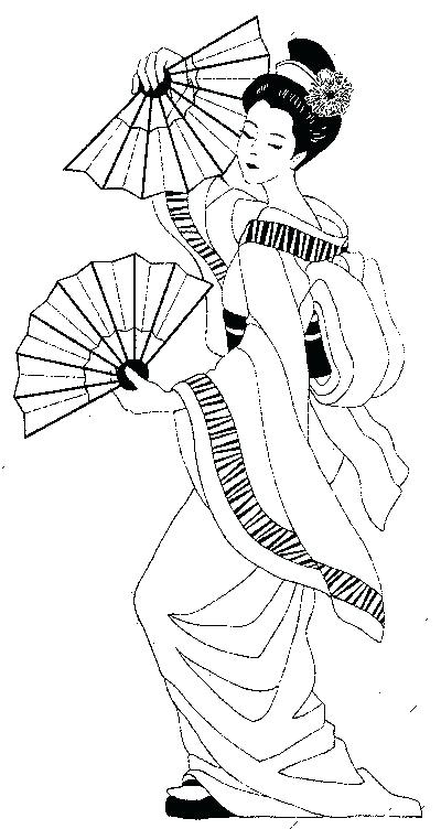 400x752 Geisha Coloring Pages Cherry Blossom Flower Coloring Page Fun