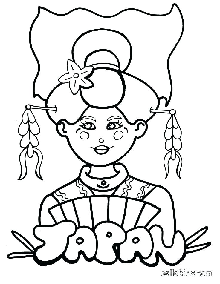 736x951 Geisha Coloring Pages Coloring Pages Printable Geisha Coloring