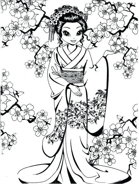 489x646 Geisha Coloring Pages Free Coloring Pages Of Geisha Girl View