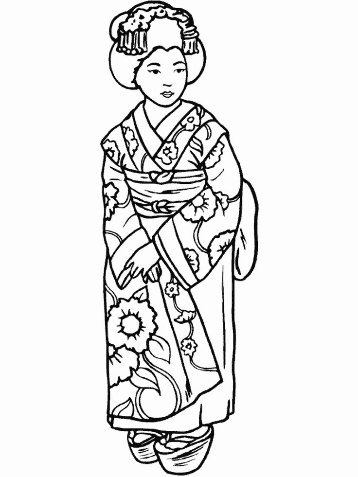 736x981 Best Geisha Embroideryjapan Images On Coloring