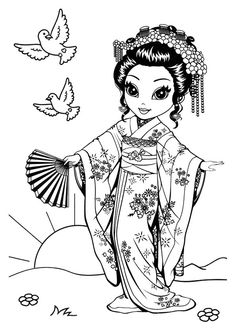 235x333 Fashion Coloring Pages Japan