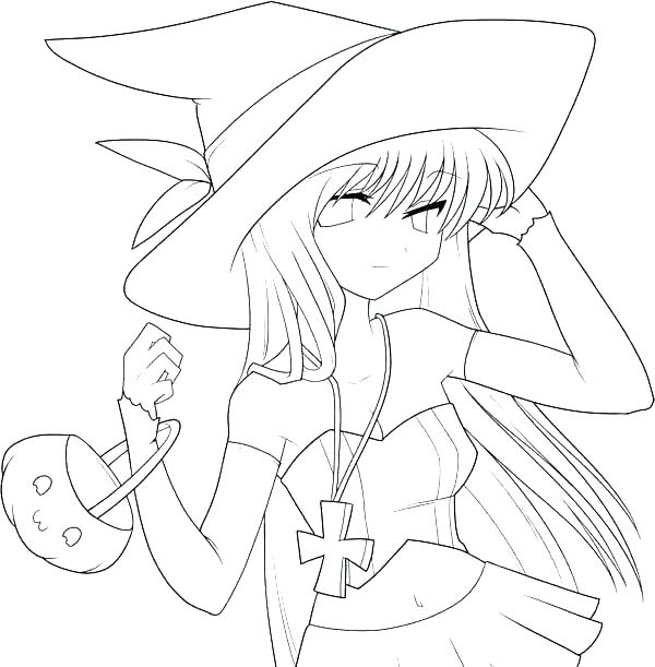 600x611 Japanese Anime Coloring Pages