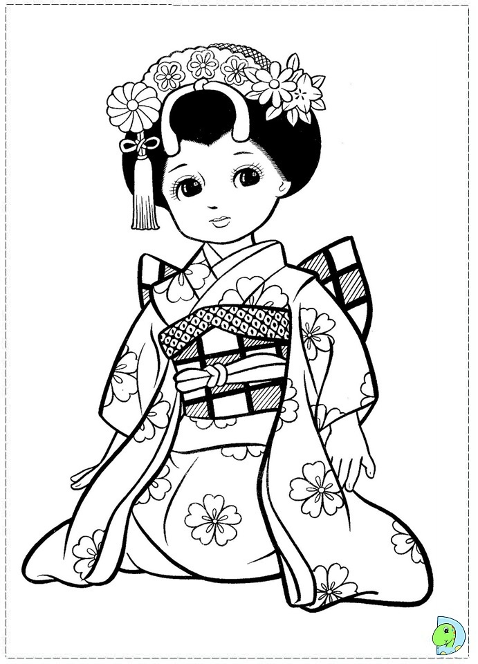691x960 Japanese Coloring Pages Best Of Japanese Girl Coloring Page