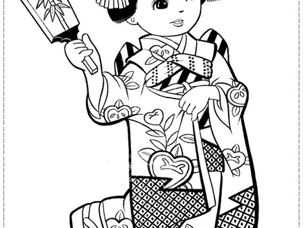 440x330 Japan Coloring Pages, Geisha Coloring, Download Geisha Coloring