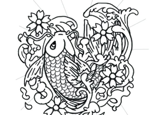 Japanese Koi Coloring Pages At Getdrawings Com Free For Personal