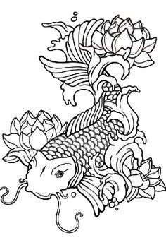 236x347 Free Koi Fish Coloring Pages In Koi Fish Coloring Pages
