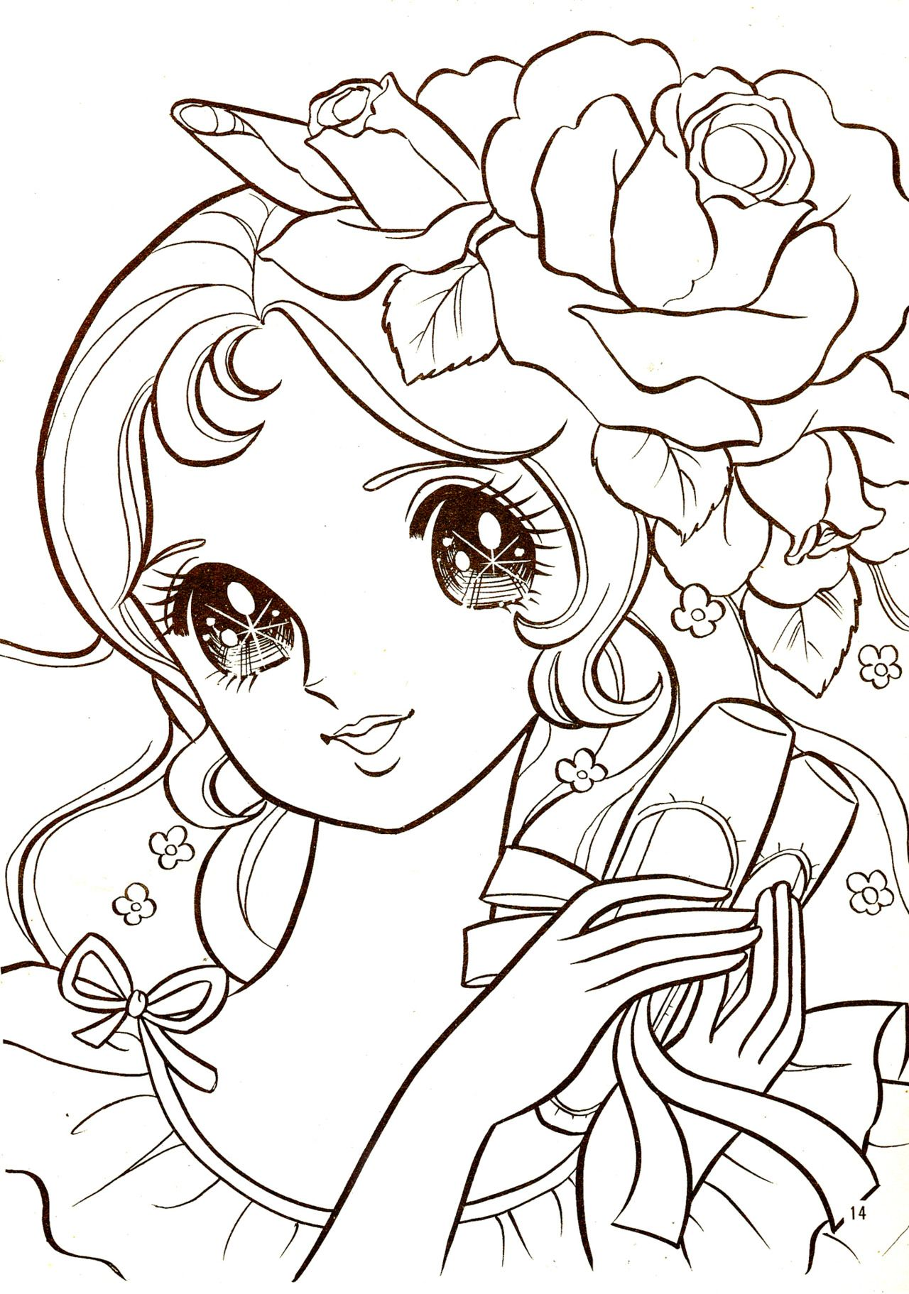 1280x1823 Awesome Coloring Page Manga Online Cute Cat Teccsjc Picture
