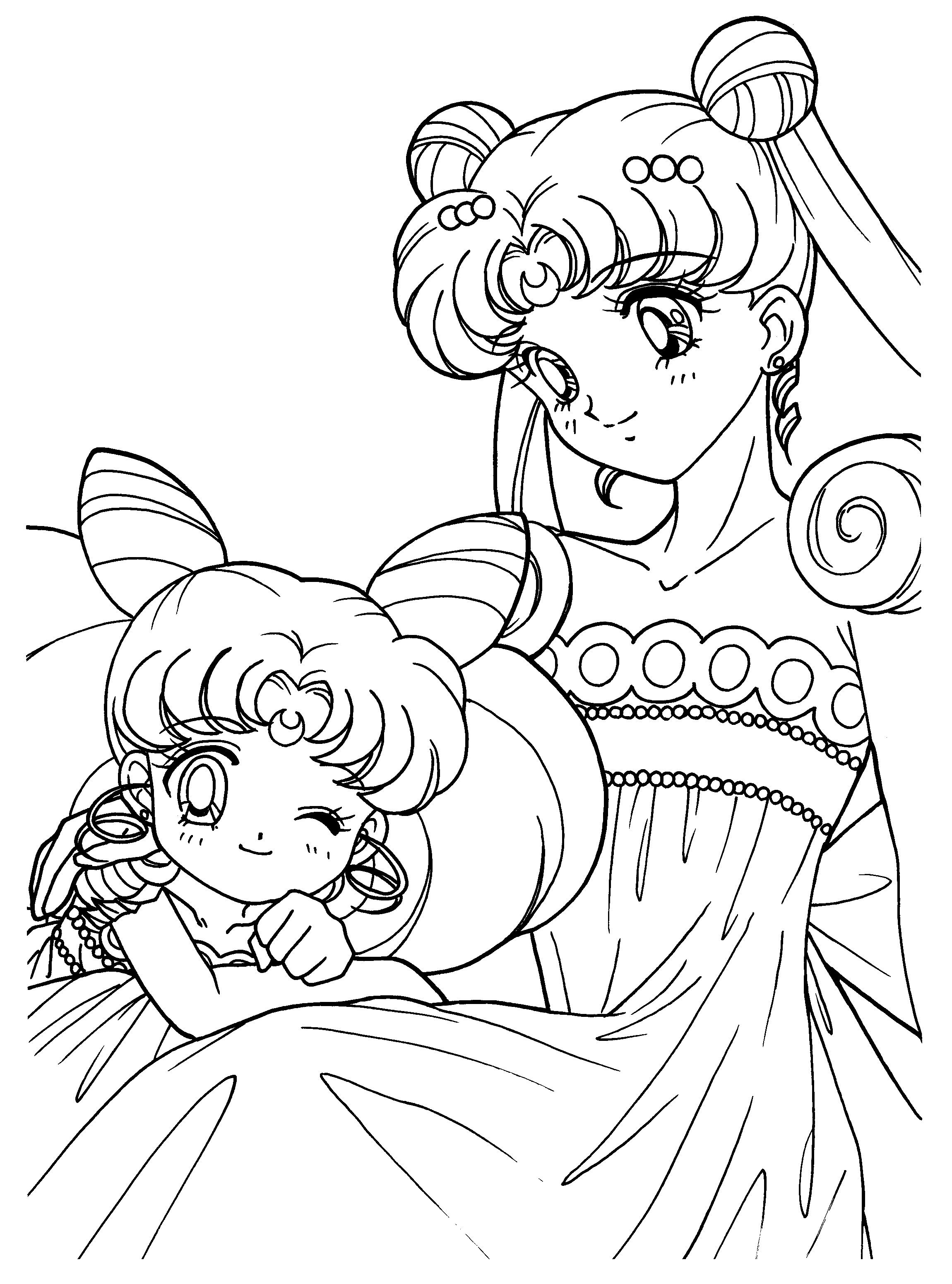 2300x3100 Free Printable Sailor Moon Coloring Pages For Kids Naoko