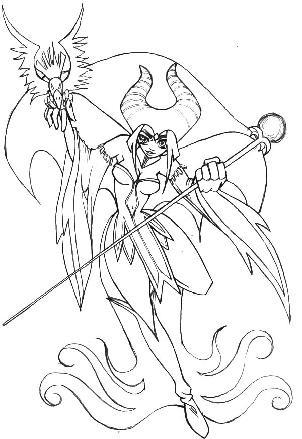 600x872 Maleficent, Japanese Manga Maleficent Coloring Pages Lineart
