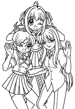 250x362 Manga Coloring Pages Bestofcoloring Com