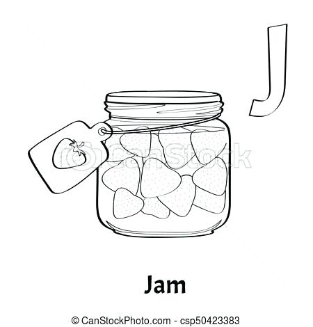 Jar Coloring Page At Getdrawings Com Free For Personal Use