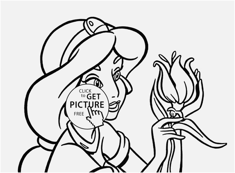 827x609 Free Disney Princess Coloring Pages Pic Disney Princess Jasmine