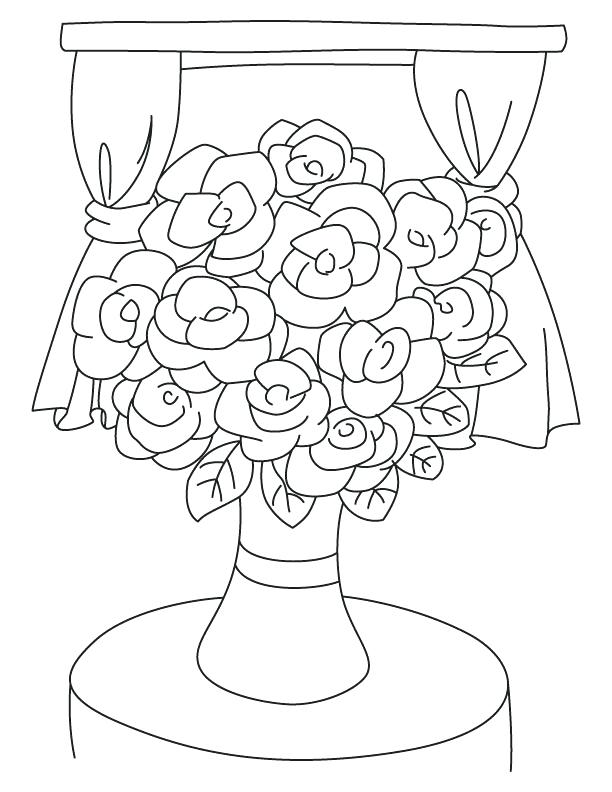 612x792 Coloring Pictures Jasmine Flowers Printable Coloring Flower Vase