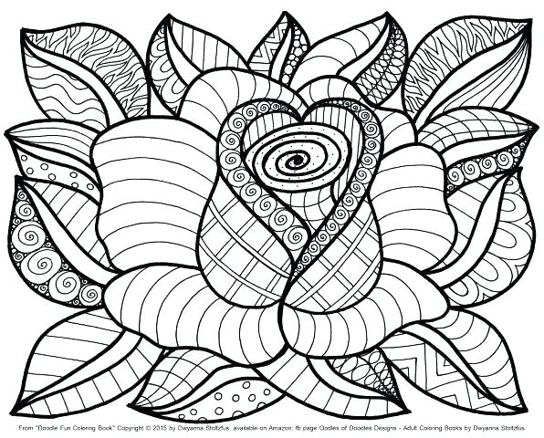 596x480 Coloring Pictures Of Flowers As Well As Flowers Coloring Flower
