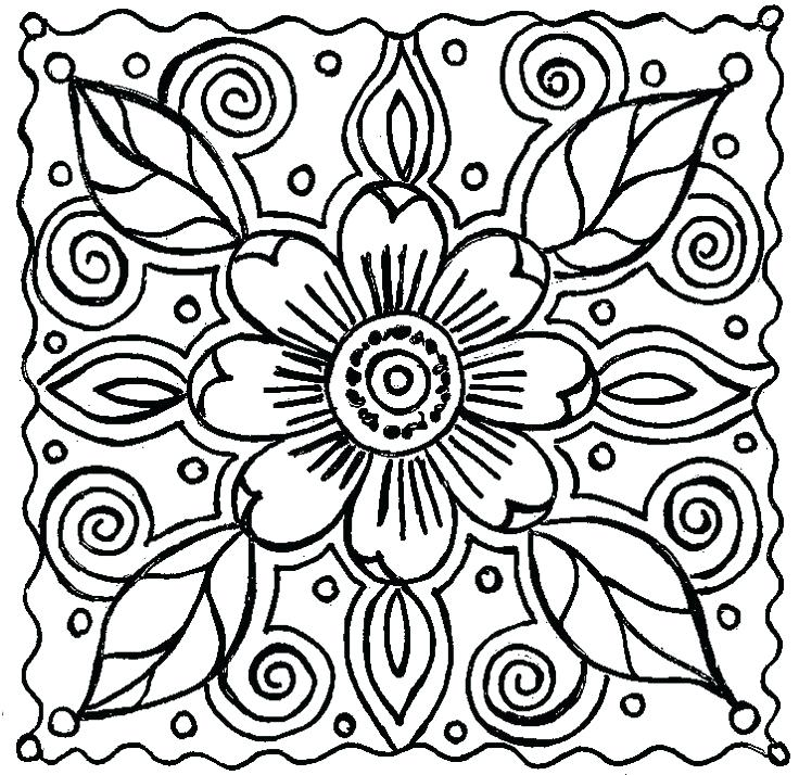 736x714 Flower Coloring Pages Free Printable Coloring Pages Flower