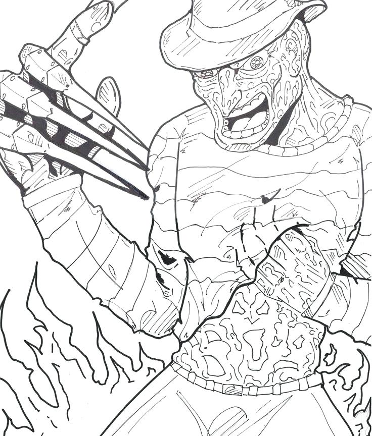 736x864 Freddy Vs Jason Coloring Pages Coloring Pages Doll Coloring Pages