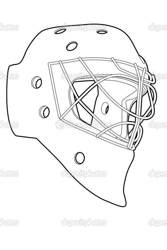 682x1023 Goalie Mask Template Nhl Goalie Masks
