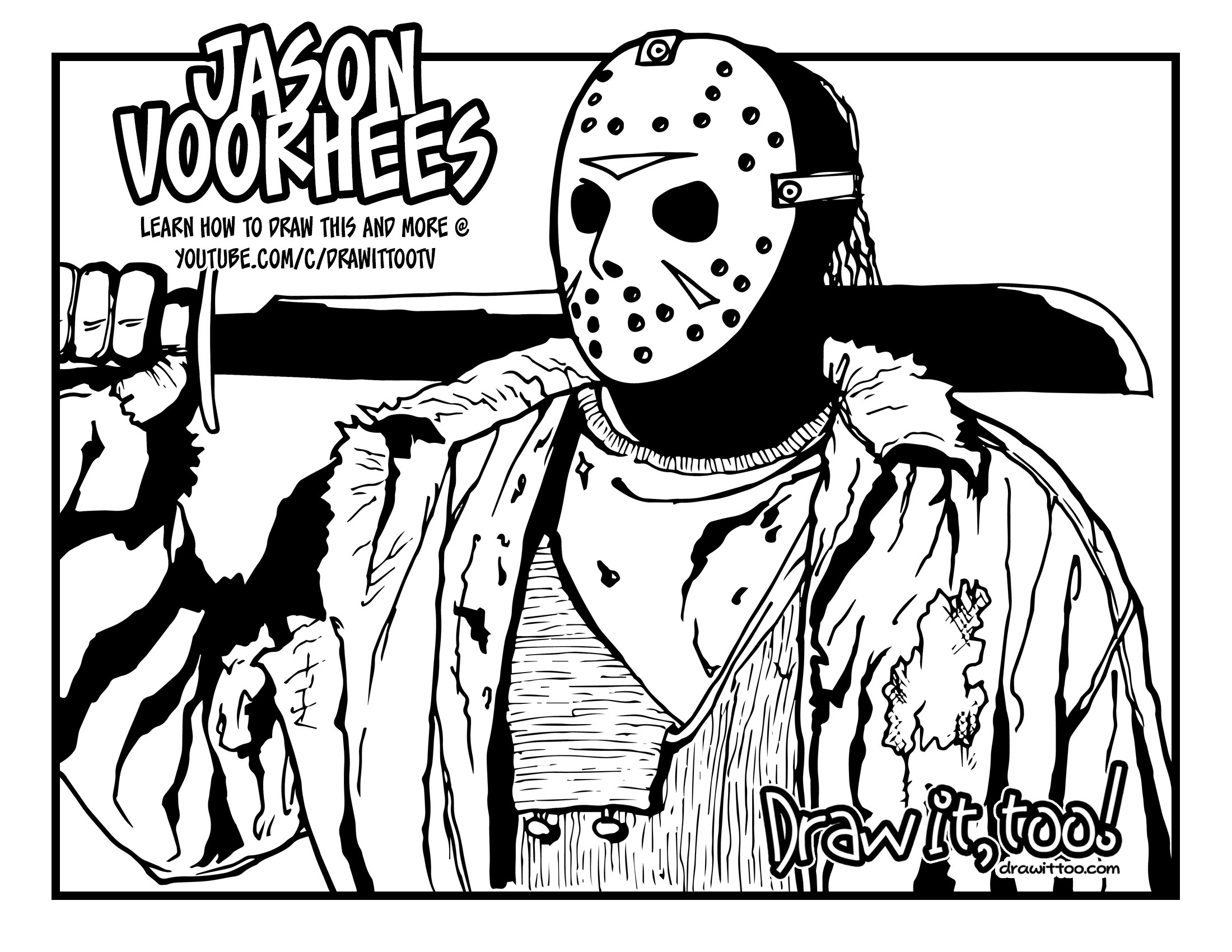 2200x1700 Hd Wallpapers Jason Mask Coloring