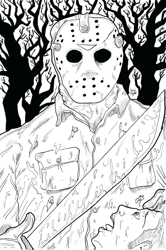 533x800 Jason Coloring Pages Doll Coloring Pages Horror Vs Jason Mask