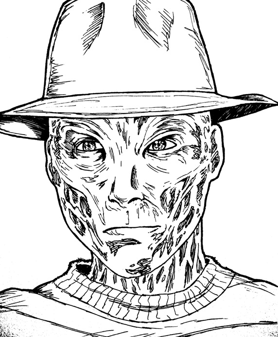 572x691 Freddy Vs Jason Coloring Pages, Printable Coloring Pages