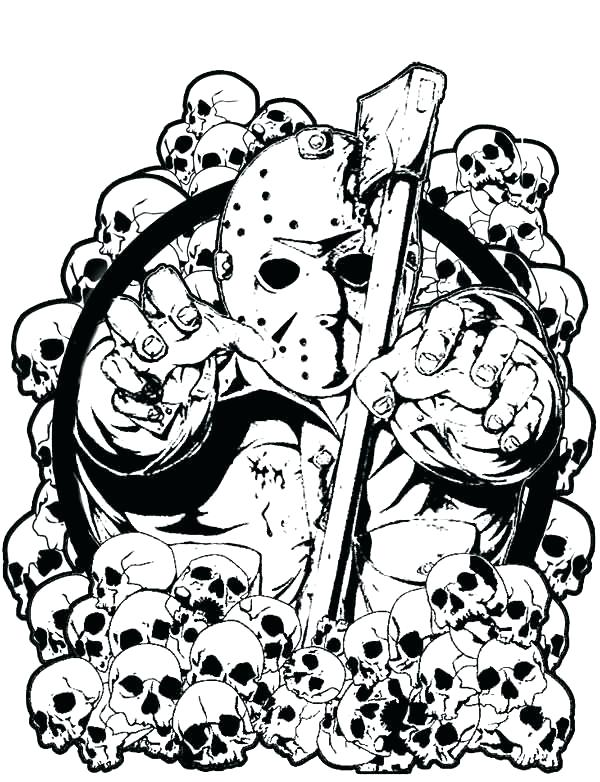 600x782 Jason Voorhees Coloring Pages Online Stunning Horror Photos Resume