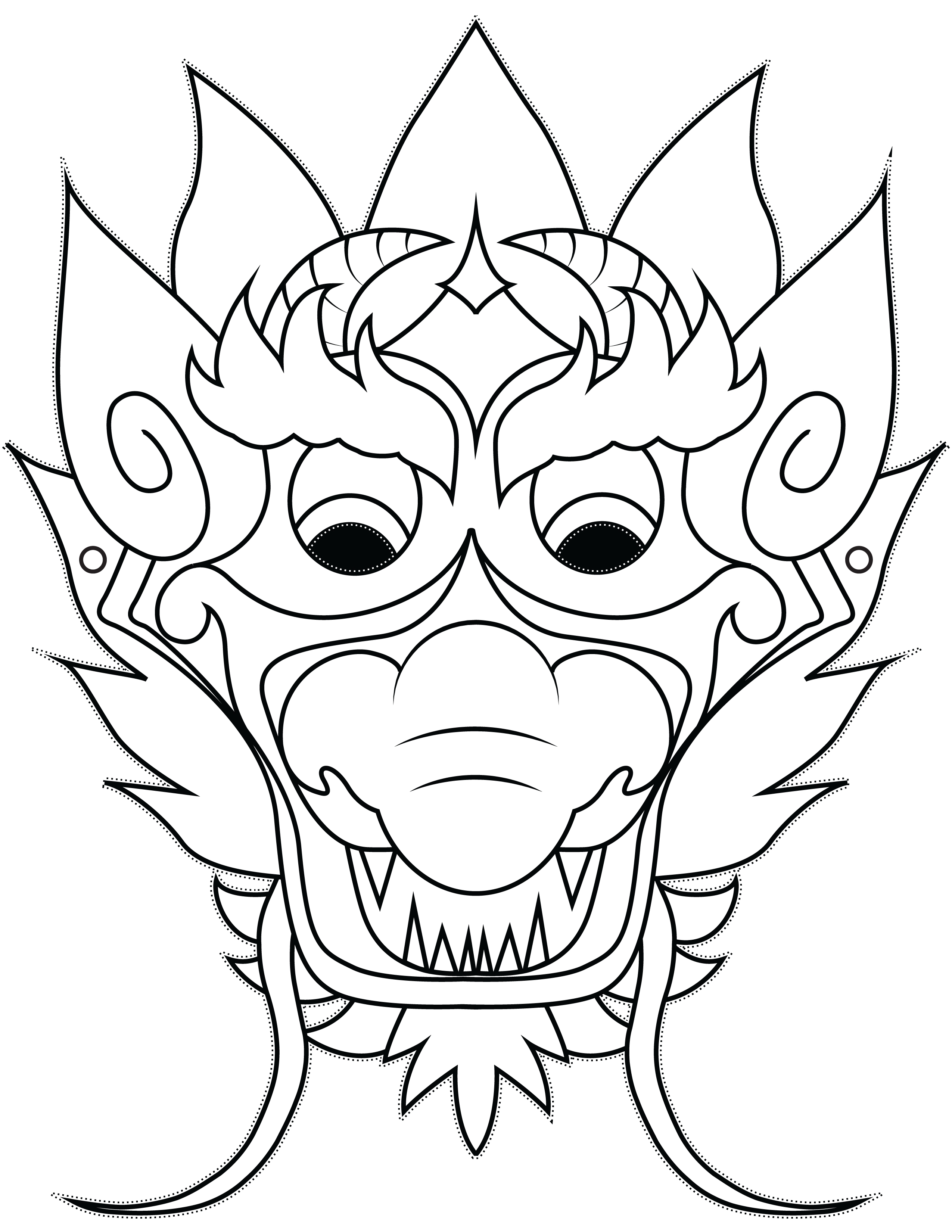 2550x3300 Enchanting Coyote Mask Template Ensign