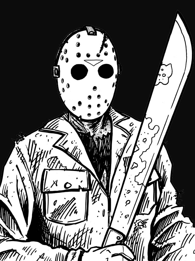 644x864 Fine Jason Voorhees Coloring Pages Festooning