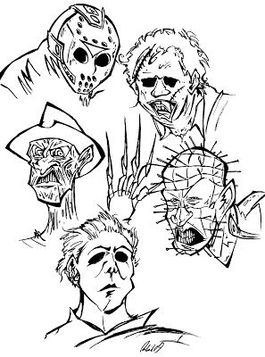 freemovie coloring pages | Jason Voorhees Cartoon Drawing at GetDrawings.com | Free ...