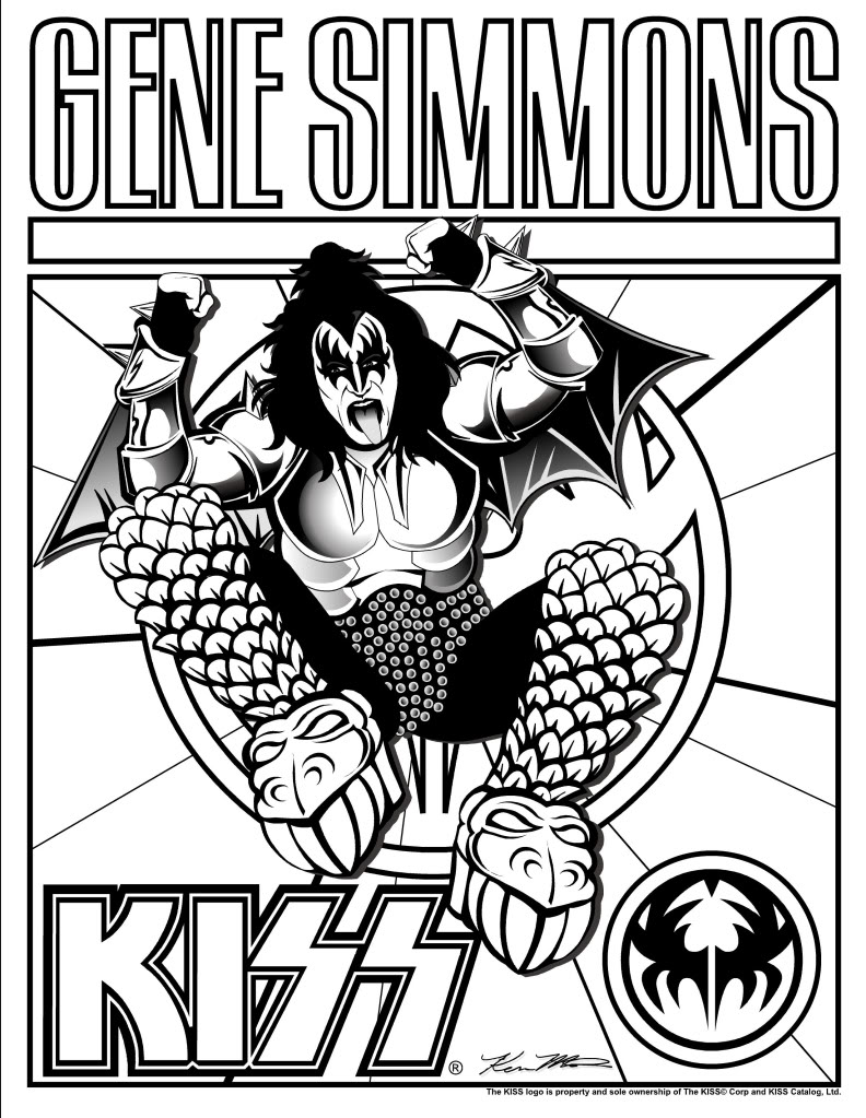 792x1023 Kiss Band Coloring Pages Ziho Throughout