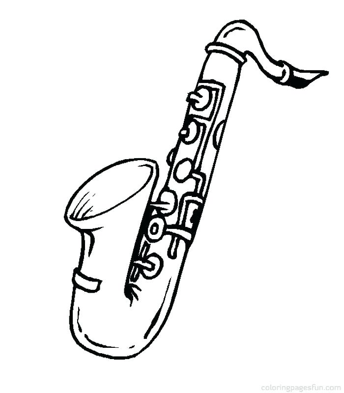700x800 Musical Instruments Coloring Pages Jazz Musical Instrument Family