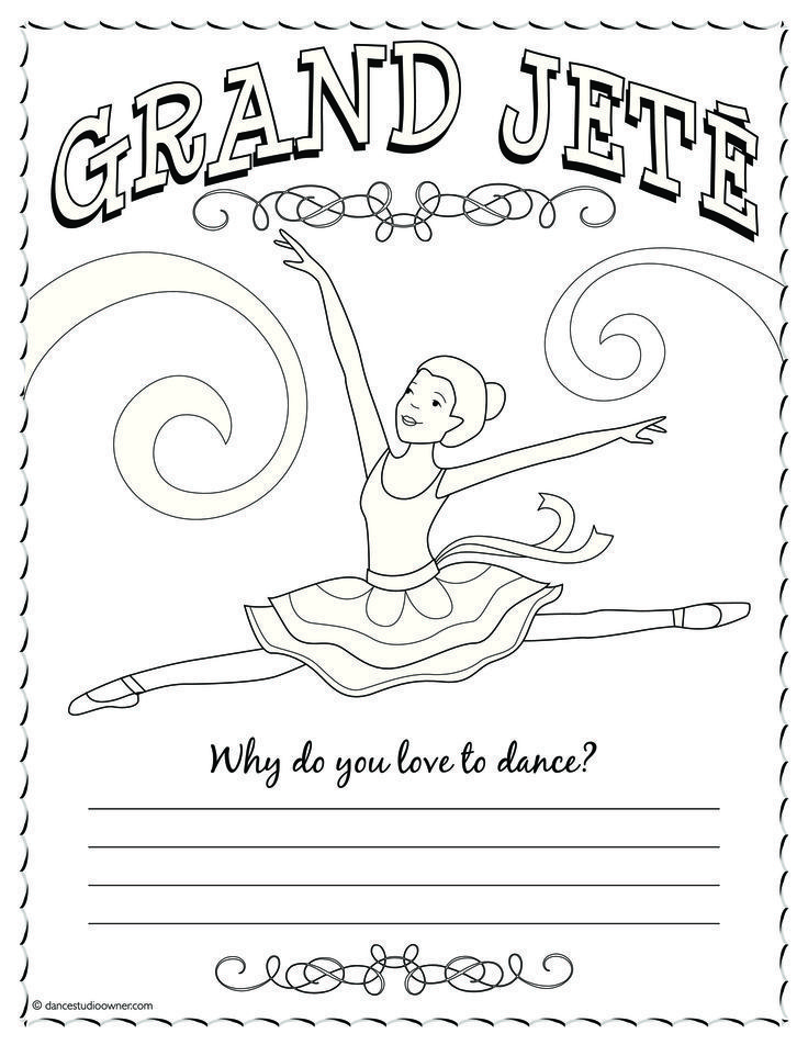 736x952 Ballerina Coloring Pages For Kids