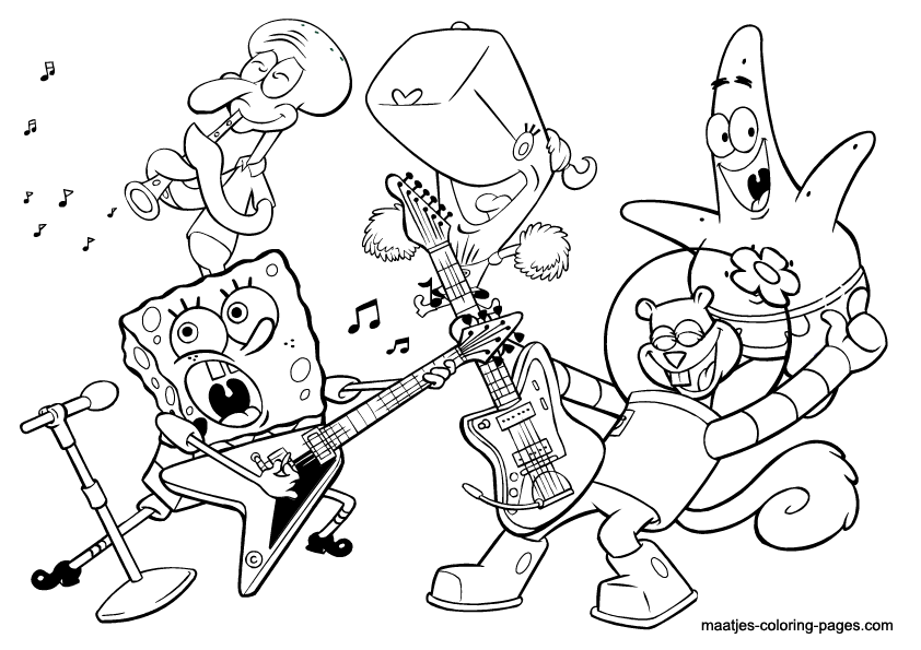 842x595 Band Coloring Pages