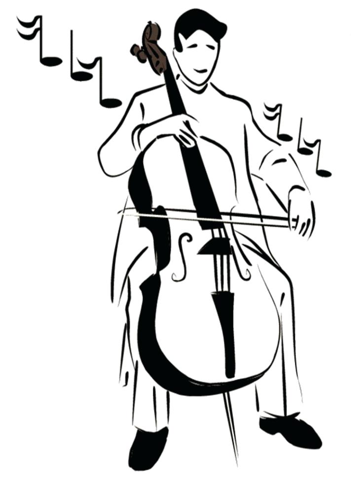 728x971 Double Bass Colouring Page Jazz Coloring Pages With Wallpaper
