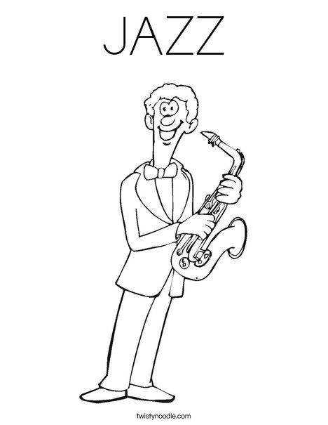468x605 Jazz Coloring Page