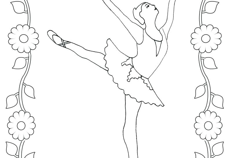 791x544 Dance Coloring Pages Ballerina Pencil Coloring Ballet Dancer Pages