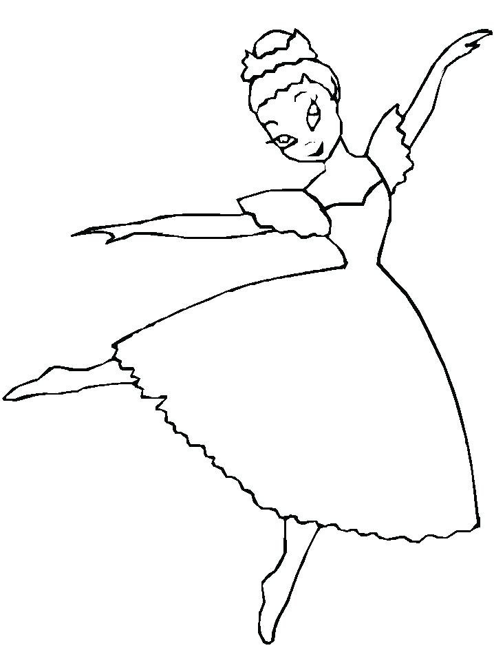 718x957 Dancer Coloring Pages Ballet Dancer Coloring Pages Free Ballerina