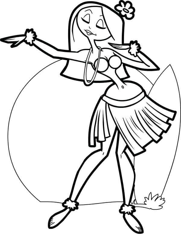 600x803 Dancer Coloring Pages Beautiful Hula Dancer Coloring Page Jazz