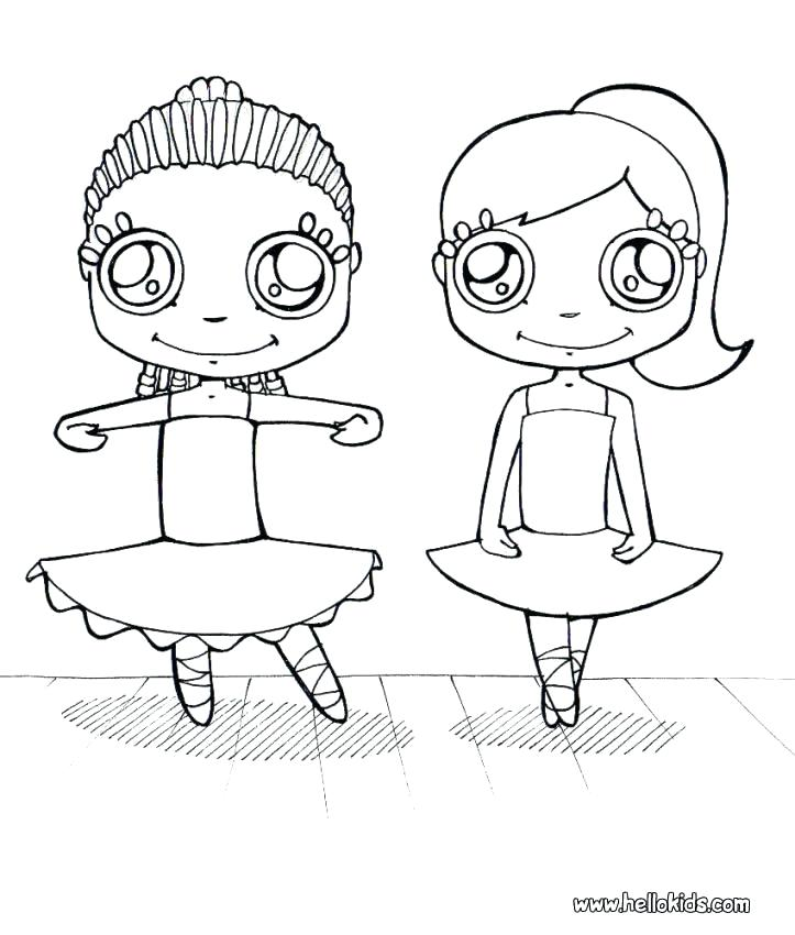 723x850 Dancer Coloring Pages Young Dancers Young Dancers Coloring Page