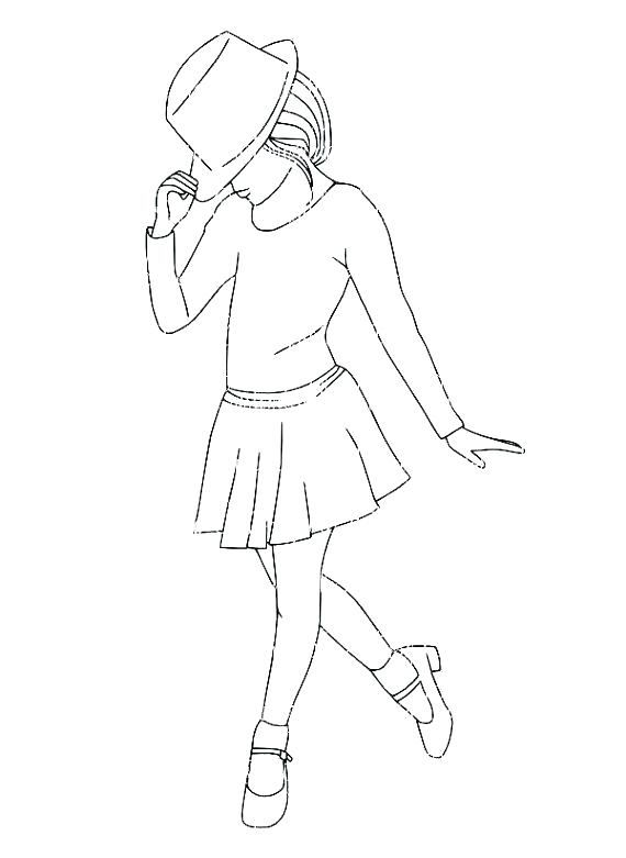 570x781 Dance Coloring Page