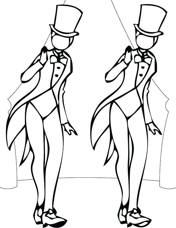 600x776 Dance Coloring Page Dancers Coloring Pages Jazz Dance Coloring