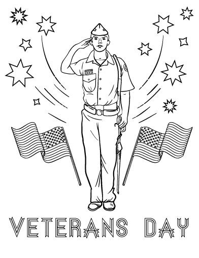 392x507 Awesome Coloring Pages Of Veterans Day