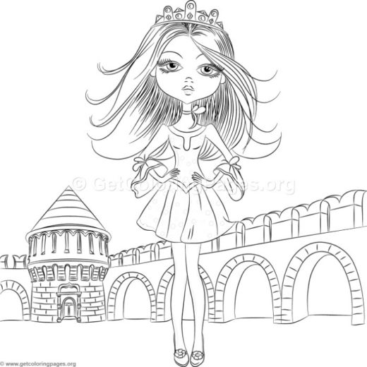 520x520 Cute Girl Coloring Pages Jeans
