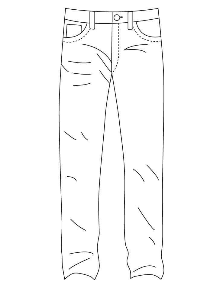738x954 Blue Jeans Coloring Page Denim Jeans Coloring Pages Download Free