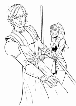 Jedi Coloring Pages
