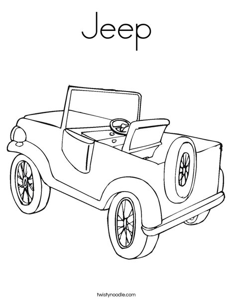468x605 Jeep Coloring Page