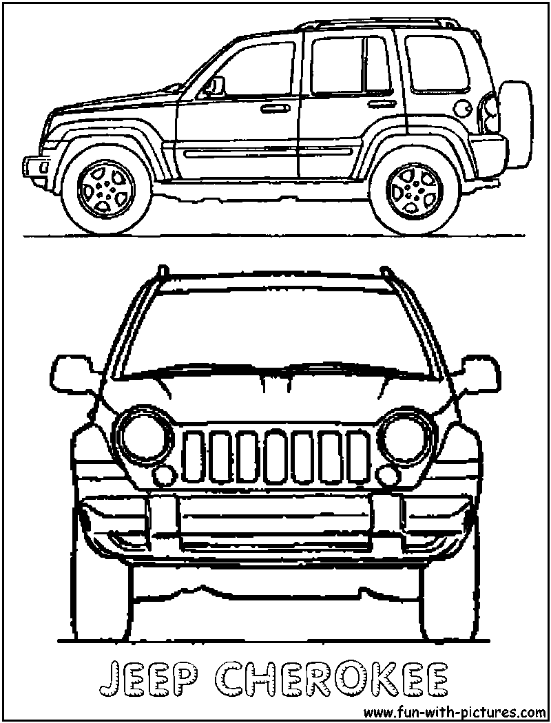 800x1050 Jeep Coloring Pages