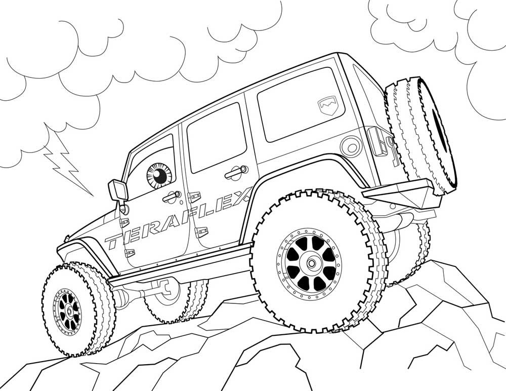 1000x772 Free Coloring Pages Jeeps