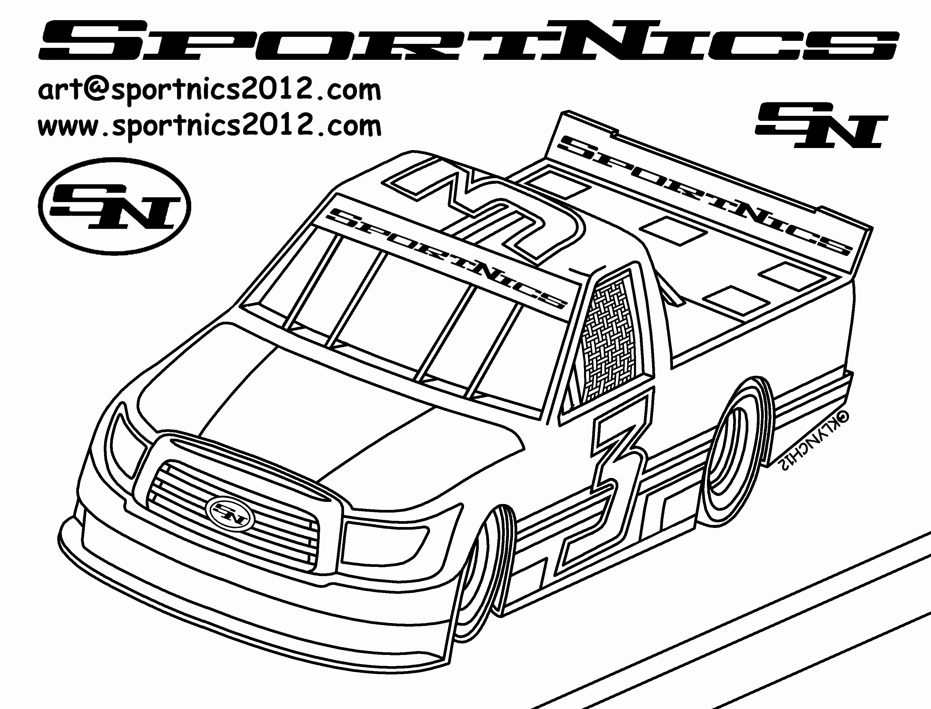 Jeff Gordon Coloring Pages