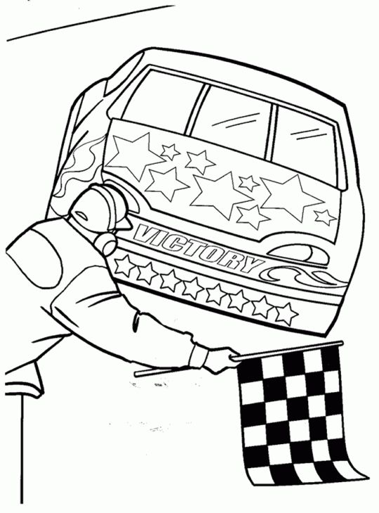 540x730 Nascar Car Finish At Position Coloring Page Sports Coloring