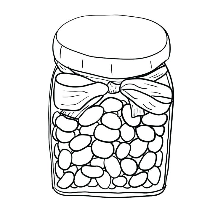 Jelly Bean Coloring Page